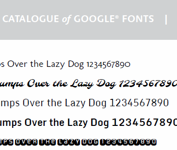 Google Fonts Catalogue Image