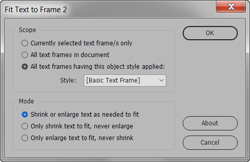 Fit Text to Frame UI