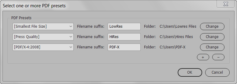 Screenshot demonstrating how to export multiple pdfs into         multiple folders
